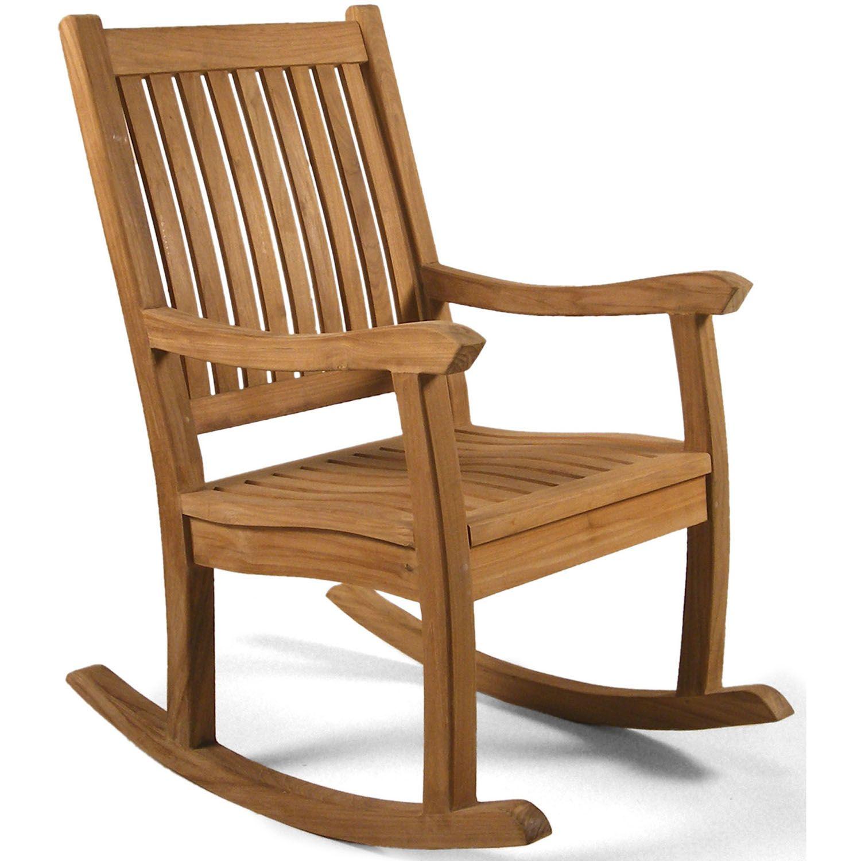 Premier Grade A Teak Wooden Rocking Chair   Outdoor Wood Rocking Chair    Garden Rattan Furniture