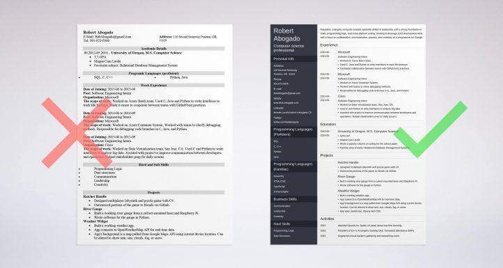 Computer Science Resume business template Pinterest Computer