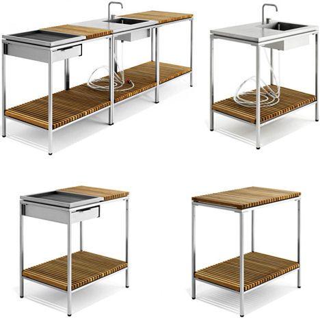 Viteo modular outdoor kitchen tiny kitchen pinterest - Modulares kochen ...