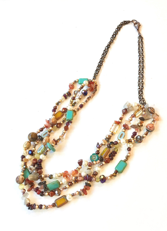 Boho Jewelry,Beaded Necklaces for Women,Jasper Necklace,Agate Necklace,Statement Jewelry for Women,Statement Necklace,Womens Jewelry