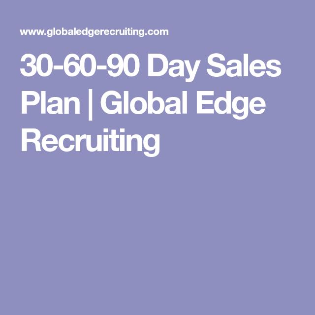 Day Sales Plan  Global Edge Recruiting  Job