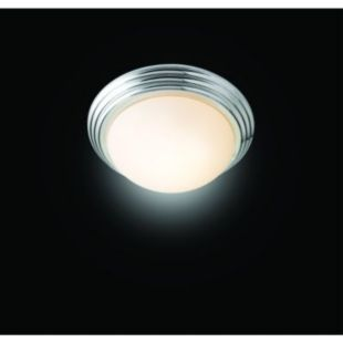 Wickes Marcello Brushed Chrome Flush Bathroom Ceiling Light