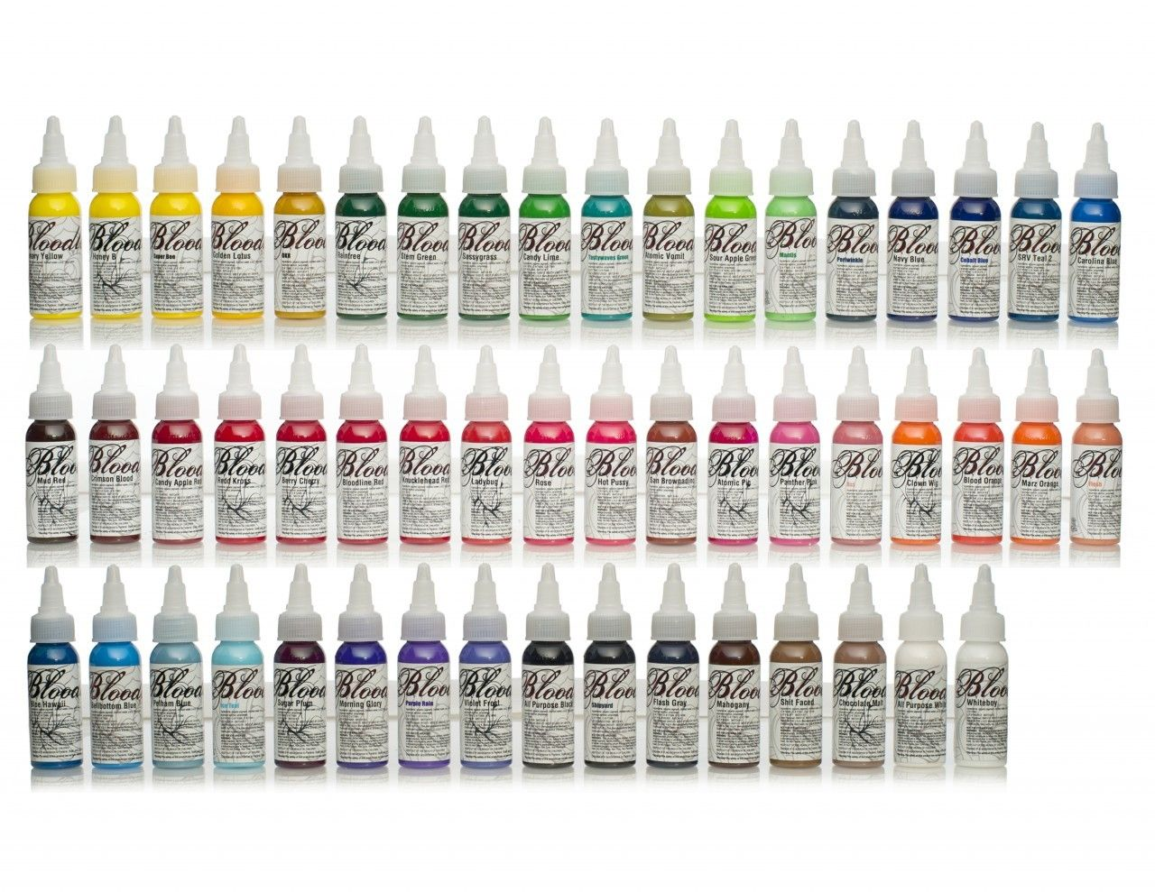 SkinCandy Tattoo Supply 52Color Rack | Tattoo Supplies | Uv tattoo ...