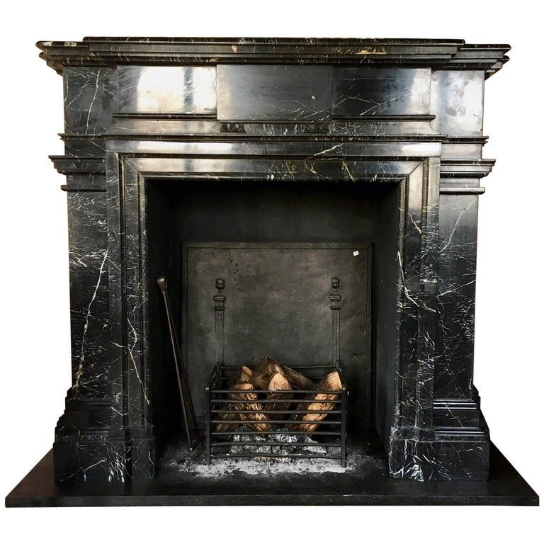 Large French 19th Century Nero Marquina Fire Place For Sale Fireplace Farmhouse Fireplace Mantels Modern Fireplace