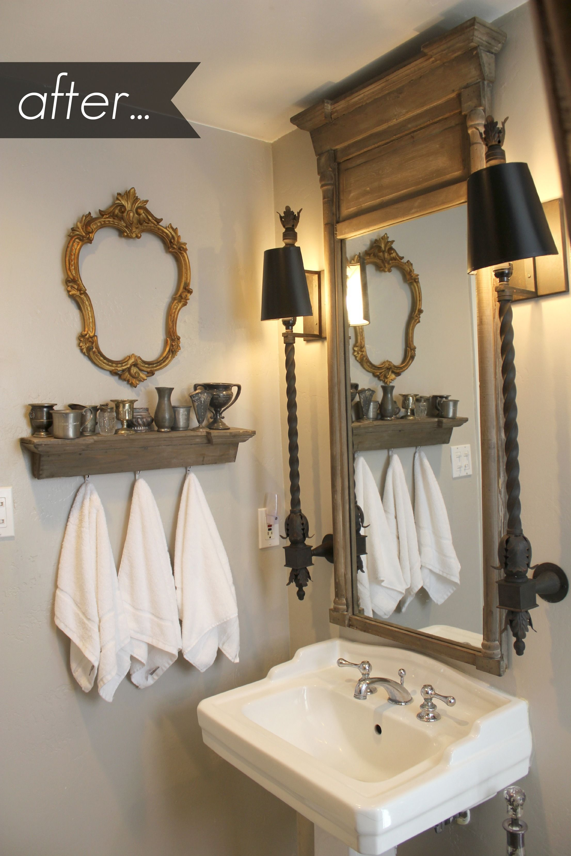 Vintage Bathroom Mirrors With Shelf
