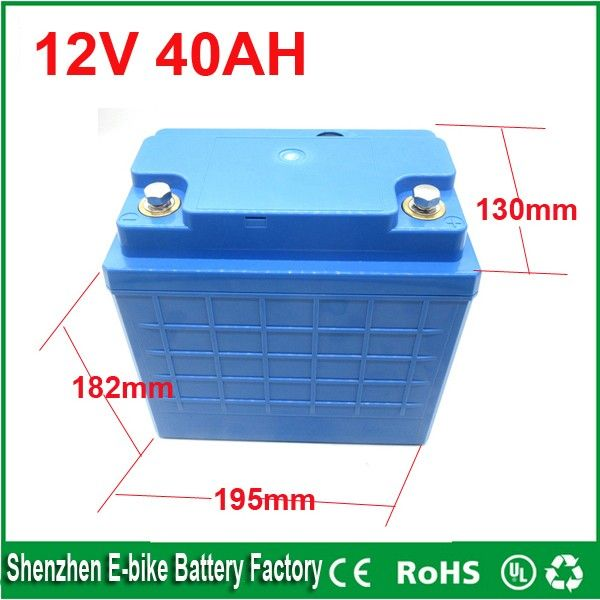 Free Shipping 12 Volt Lithium Ion Battery 40ah 12v 40ah Deep Cycle Lithium Ion Battery 12v Lifep Deep Cycle Battery Electric Bicycle Battery Energy Storage