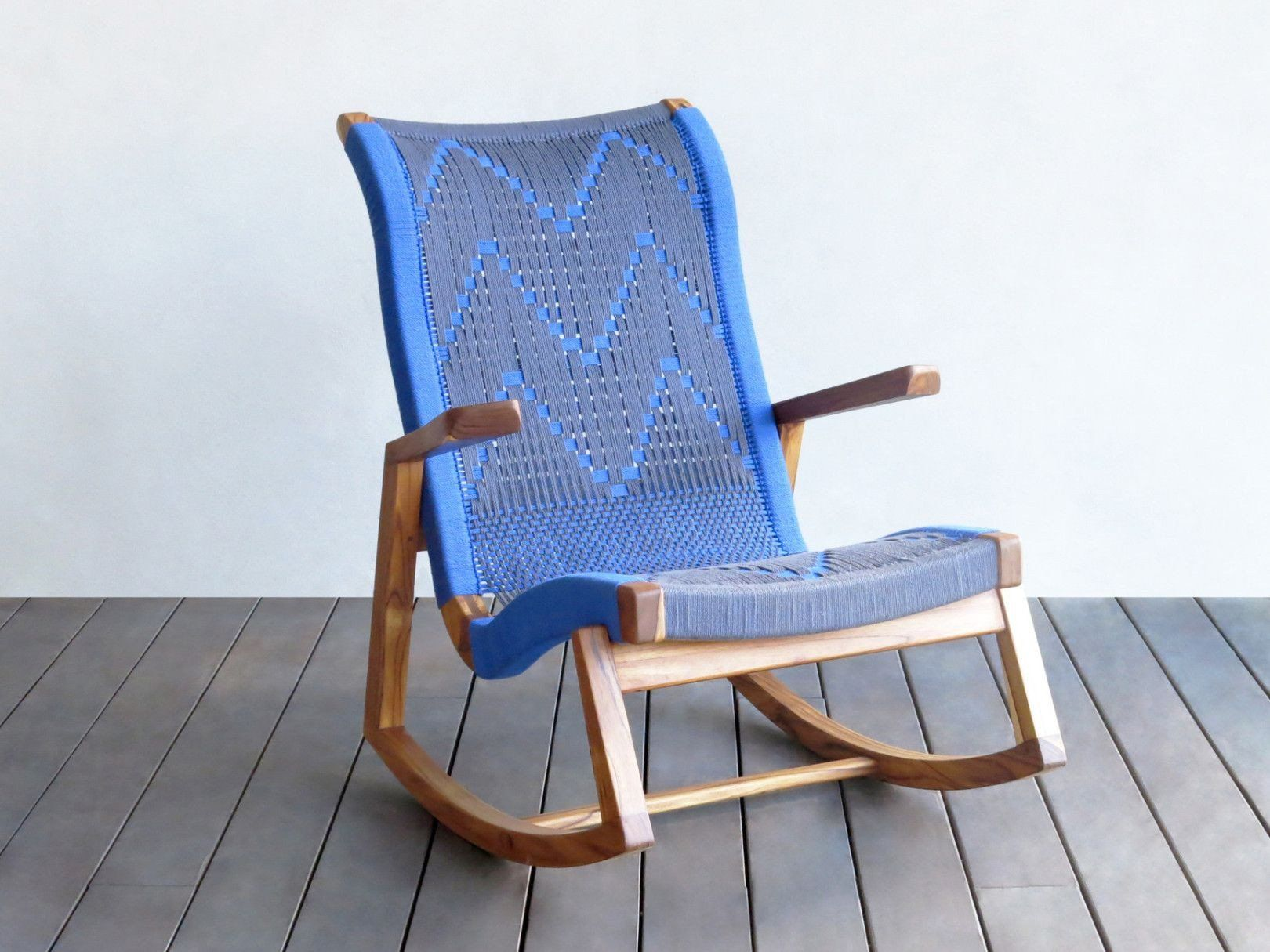 Our Abuelo Leather Rocking Chair Is Handmade From