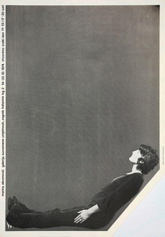 Sanja Ivekovic Plakat Samostalne Izlozbe Marine Abramovic 1974 Graphic Poster Artist At Work Graphic Design Art