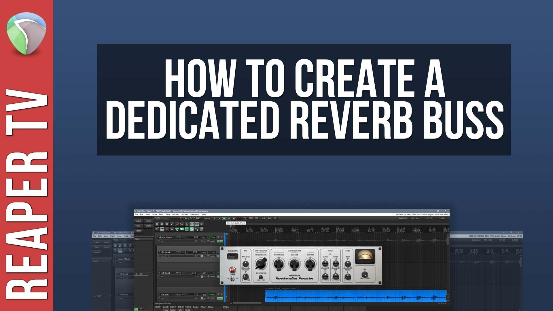 How To Set Up a Dedicated Reverb Buss in Reaper DAW | DAW in
