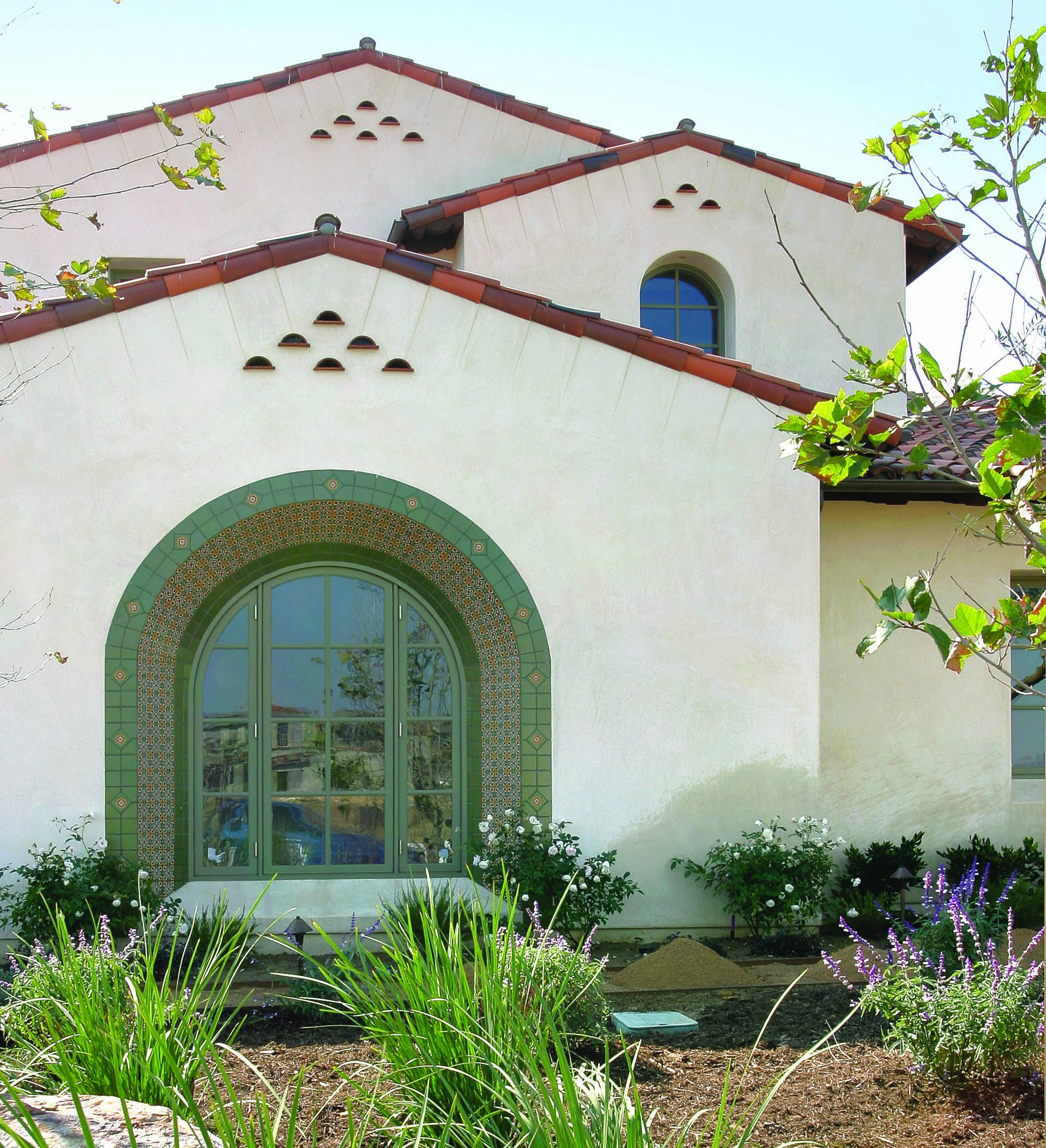 Exterior 7 272 square foot spanish colonial custom for Santa barbara style house