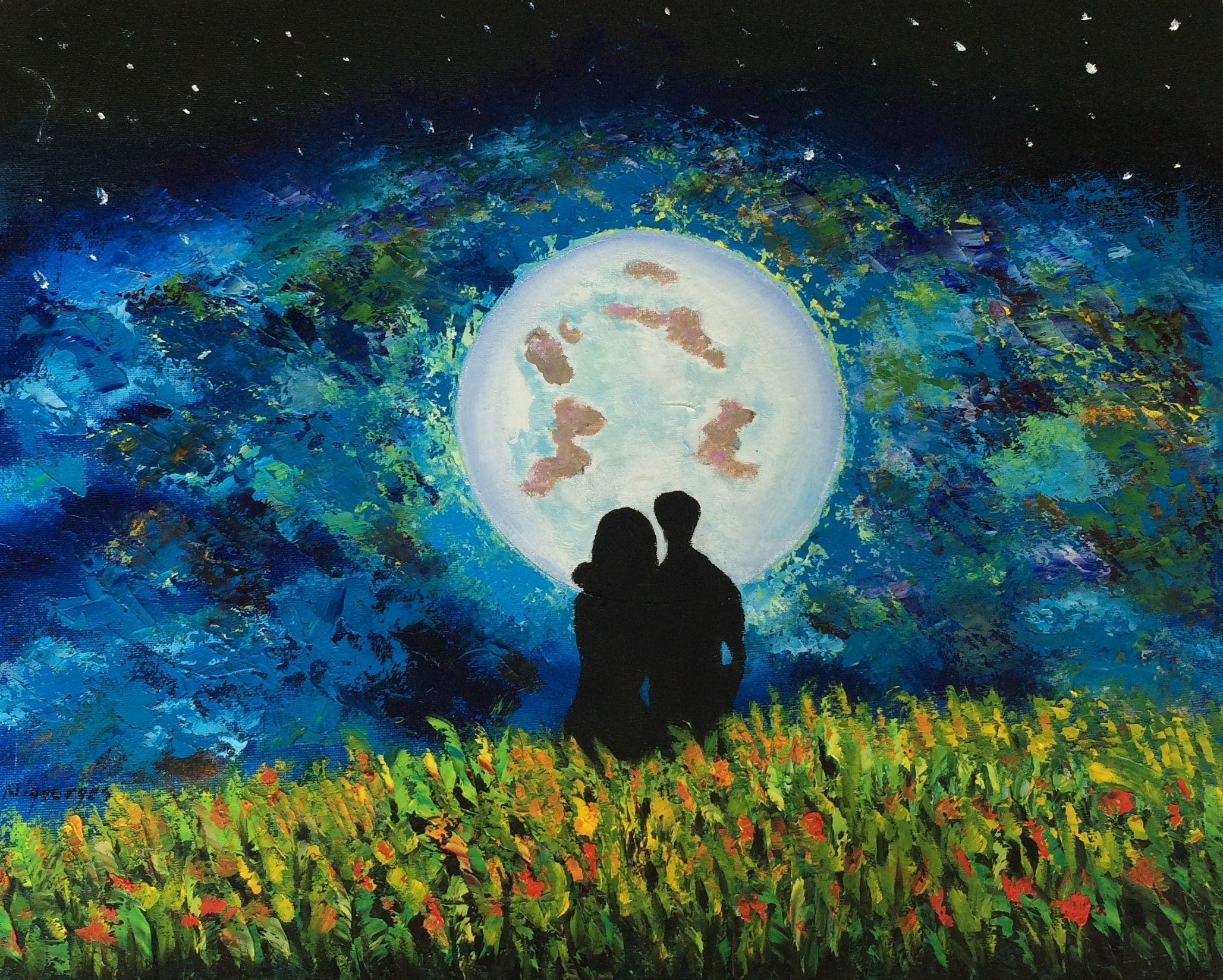 Together Abstract Art Abstract Art Oil Painting Original