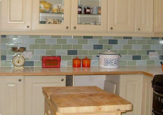 Lime House Green Belgravia Blue Green Park Retro Metro Crackle Glaze Tiles Used To Create This Great Collage Kitchen Idea Kitchen Tiles Glazed Walls Tiles Uk