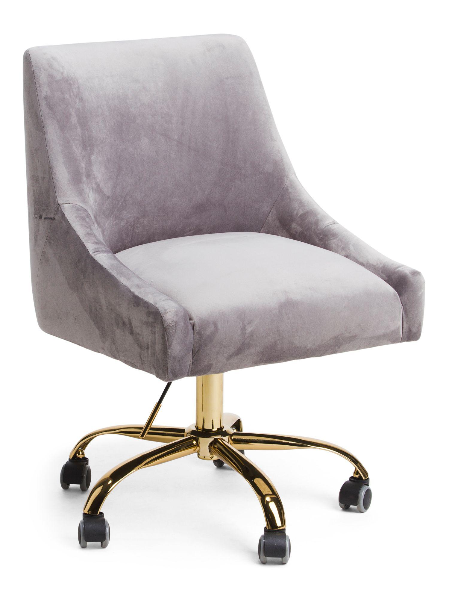Kelsey Velvet Office Chair With Images Velvet Office Chair