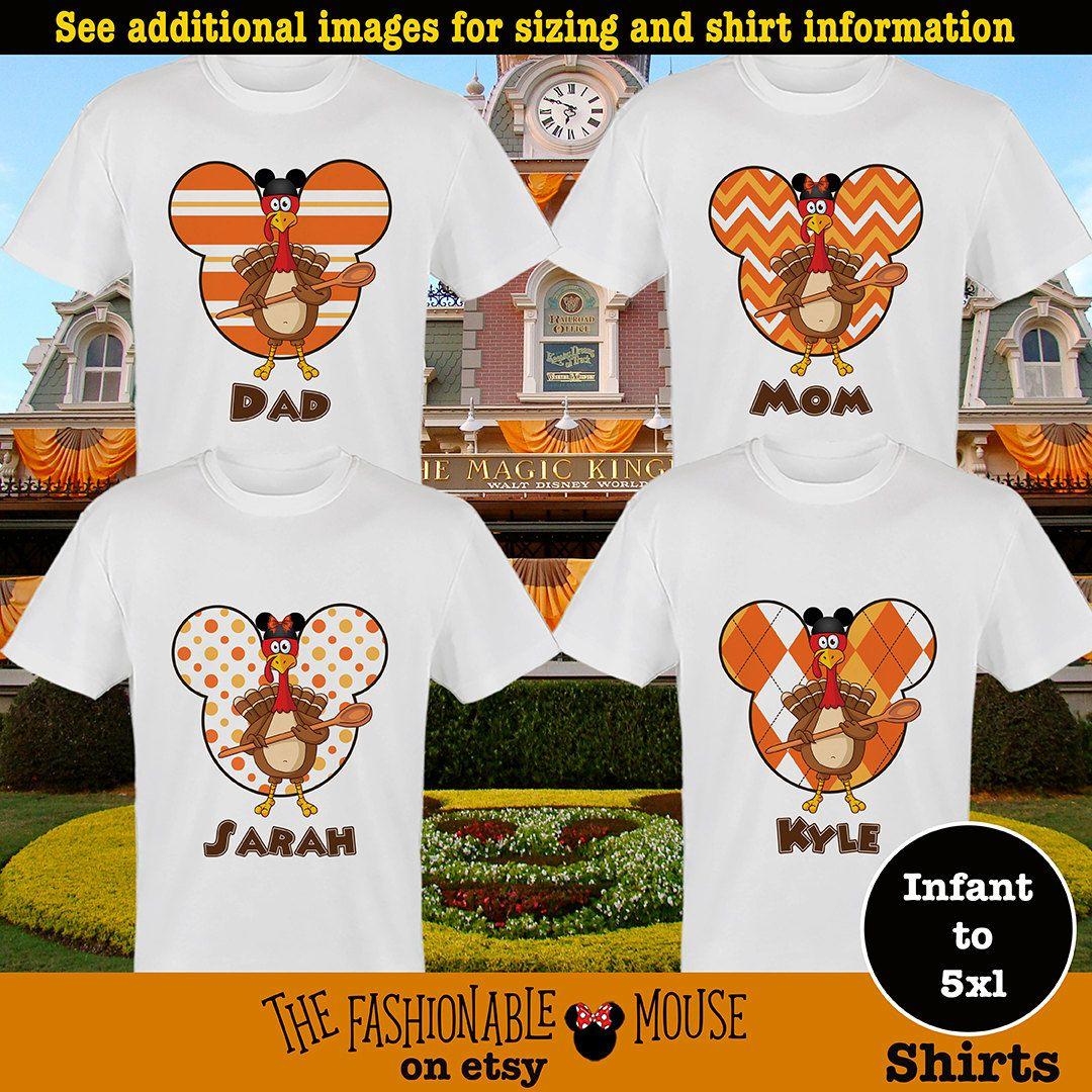 1cd666a487c8 Disney Thanksgiving Family Shirts, Disney Family Fall Shirt, Disney Turkey  Shirts by TheFashionableMouse on Etsy
