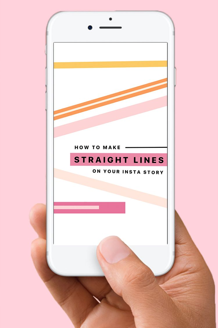 Today I Am So Excited To Share With You How To Make Straight Lines On Instagram Story This Little Hack Is So Easy And A Straight Lines Instagram Story Lines