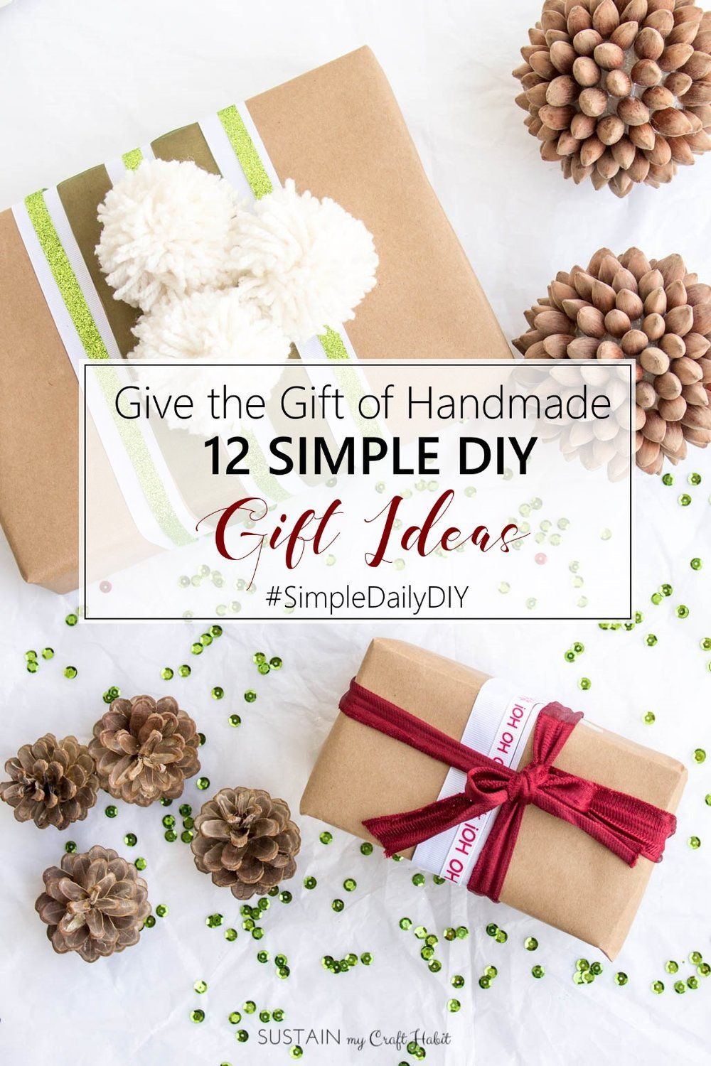 Give the Gift of Handmade: 12 DIY Gift Giving Ideas   Easy diy ...