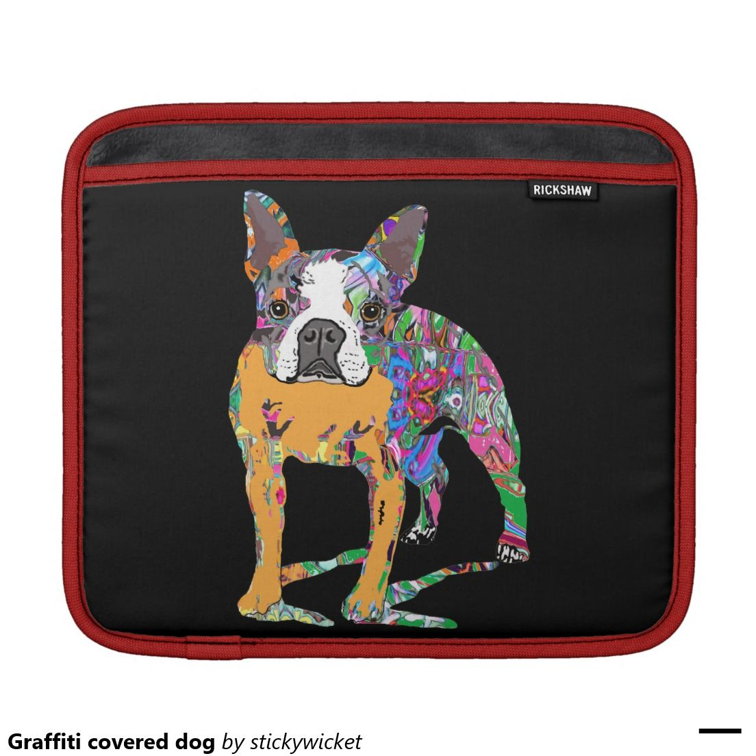 Graffiti covered dog sleeves for iPads