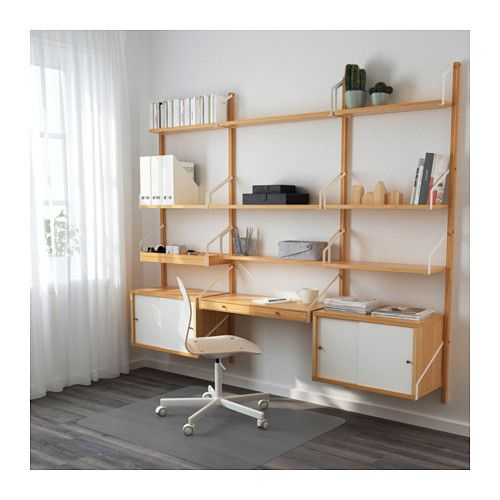 ikea svalns wallmounted workspace combination with a spacious storage solution everything has its placehide or display your things by combining open