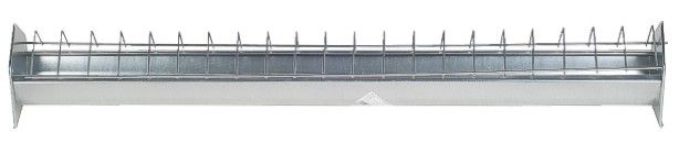 Galvanised Poultry Feed Trough 100cm X 13cm Chicken Feeder Feed Trough Poultry Feed Poultry