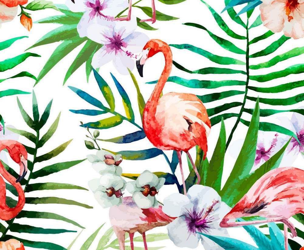 Tropical Flamant Rose Prints Fond D Ecran Tropical Peindre Et