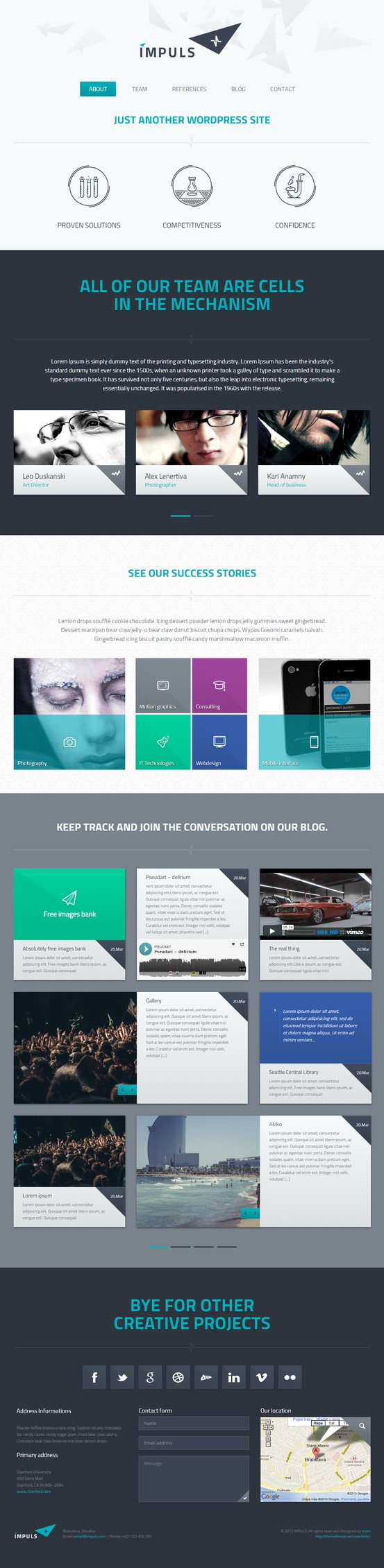 Impuls Wordpress Responsive Theme Wordpress Theme Website Template Responsive Design Webdesign Flat Flatdesign Portfolio O Web Design Design Apps