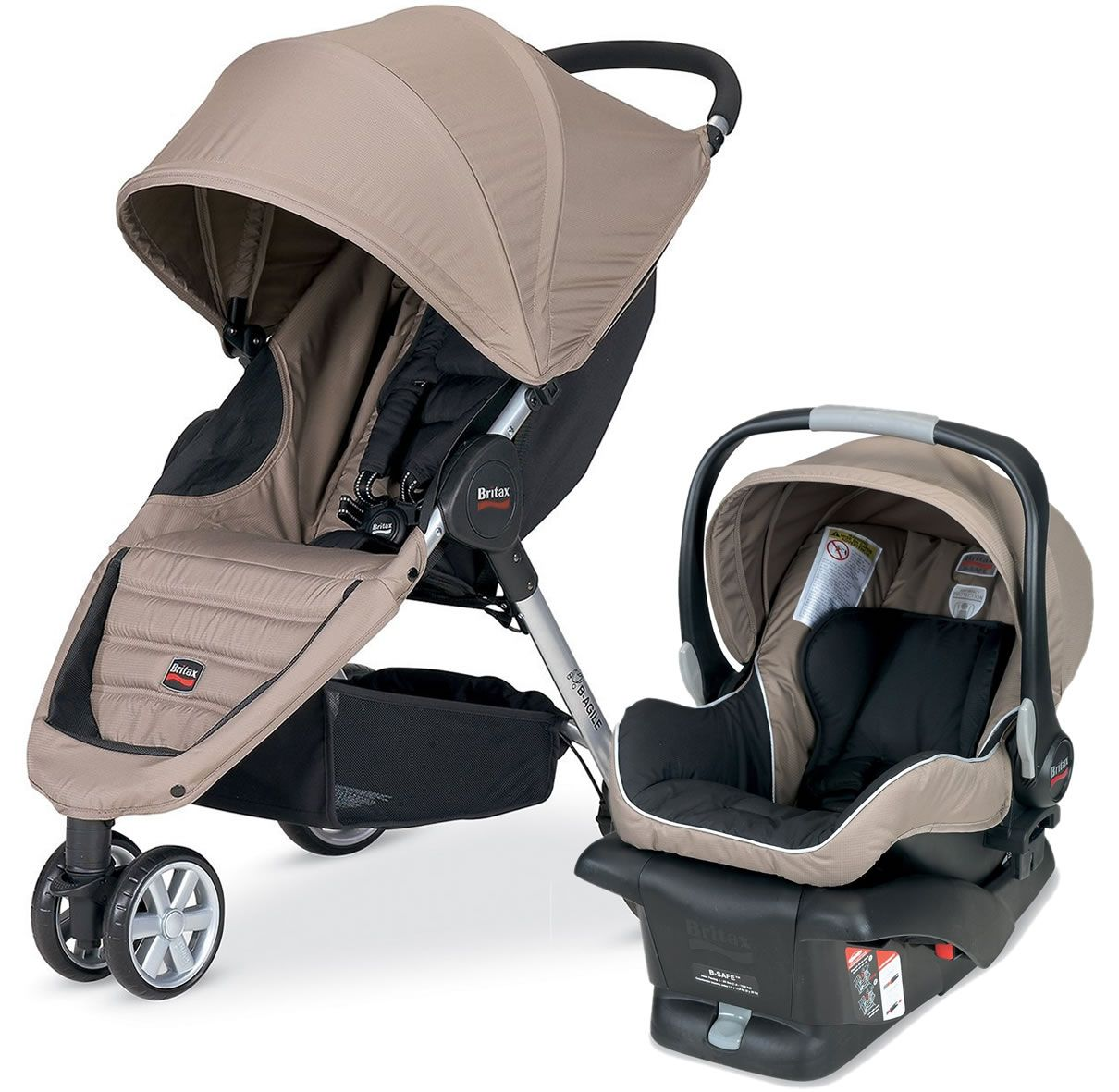 Britax BAgile Travel System Sandstone Baby strollers