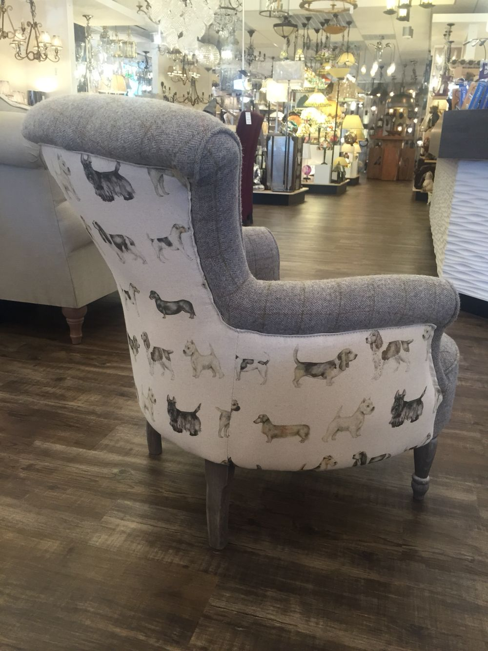 Dog Print Armchair Furniture Armchair Accent Chairs