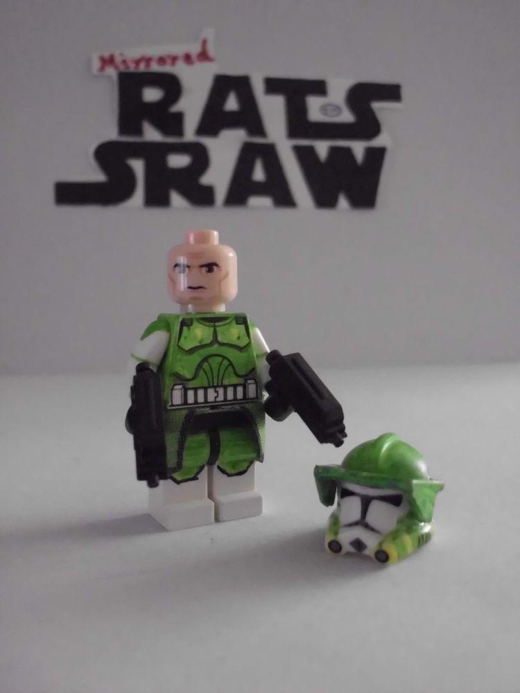 Lego Star Wars minifigures - Clone Custom Green Commander (Tup clip ...