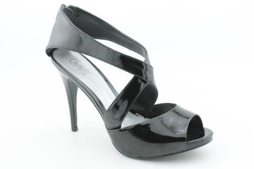 Carlos Santana Calico Strappy New Peep Toe Platforms Shoes Black Womens ~ Details ->> http://amzn.to/KjU78d