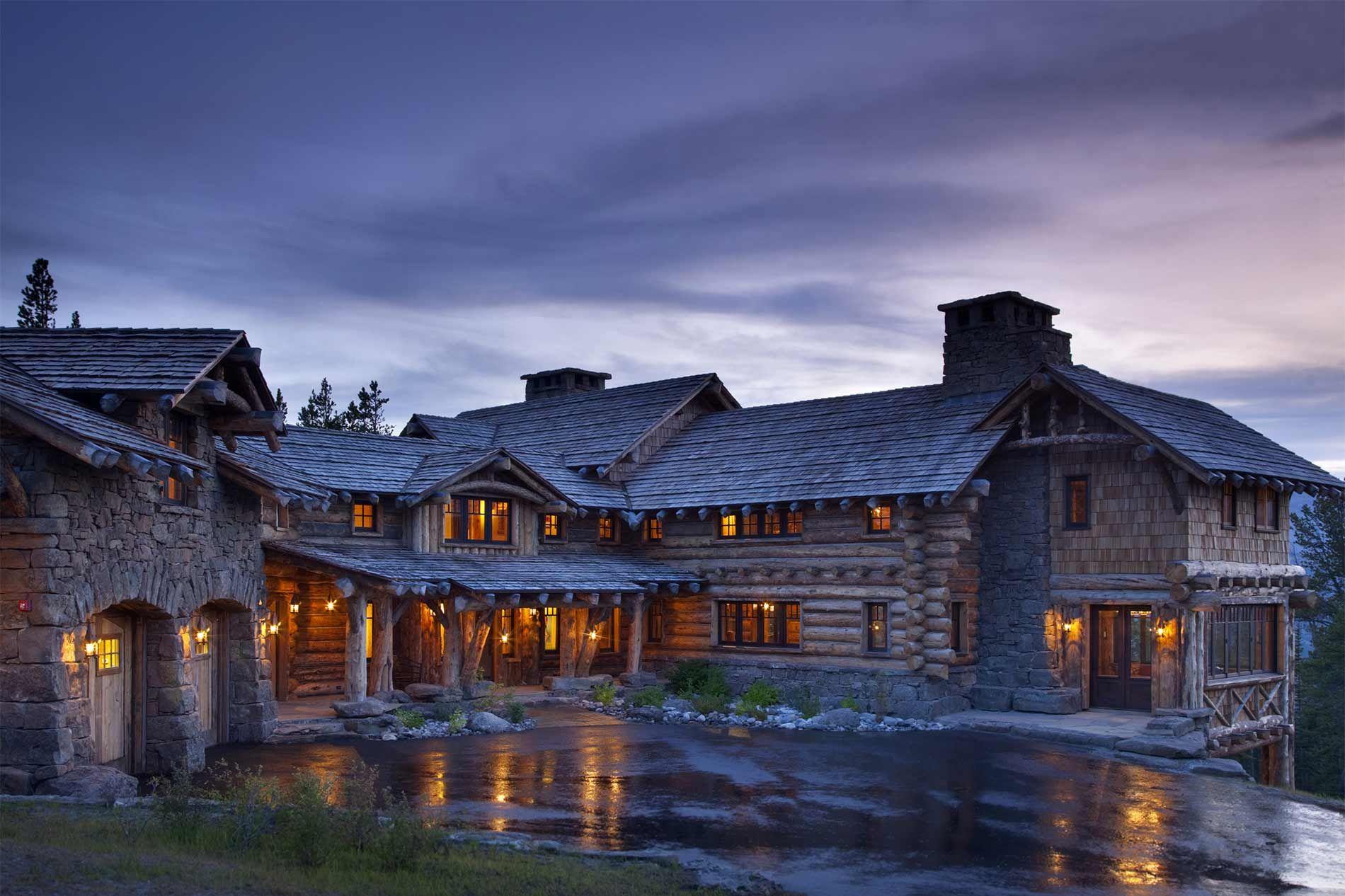 Beautiful luxury log cabins rustic house rustic cabin