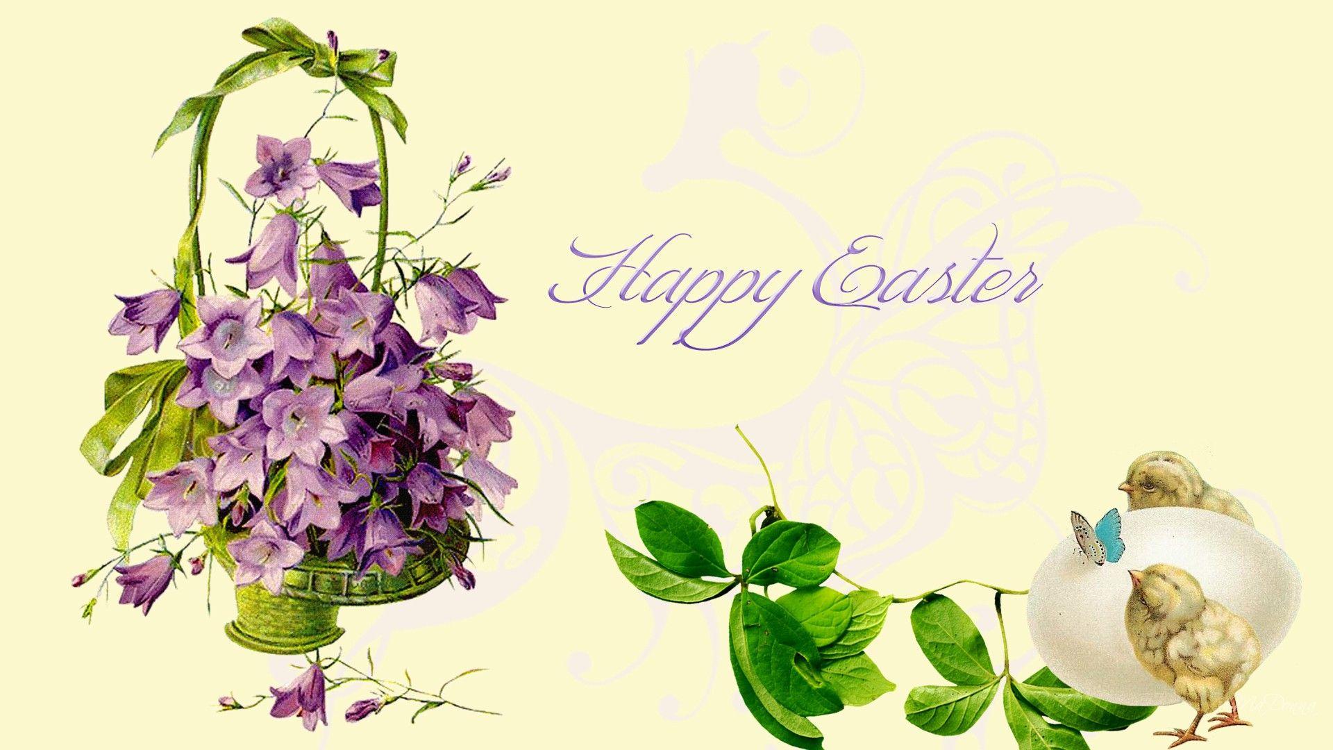 Vintage Easter Vintage Easter Violets Hintergrundbilder
