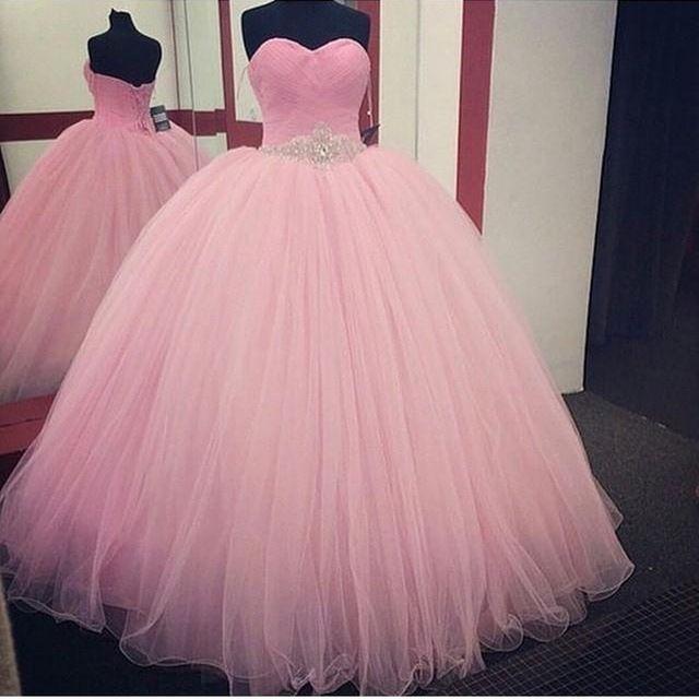 e9054698a9 Rosa vestido de Baile Vestidos Quinceanera 2017 Frisada vestidos de 15 años  barato sweet 16 vestidos vestidos de debutante vestido para 15 anos