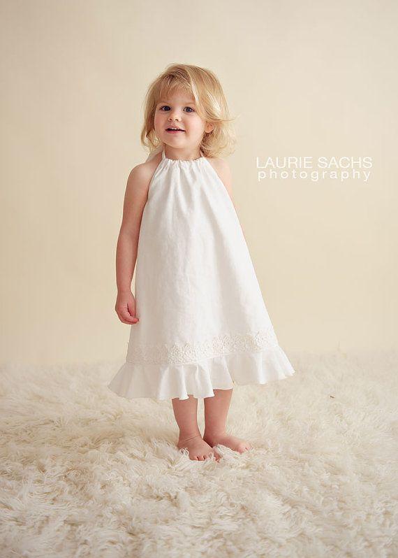 Toddler Girl White Country Flower Girl Dress Flowergirl Dress