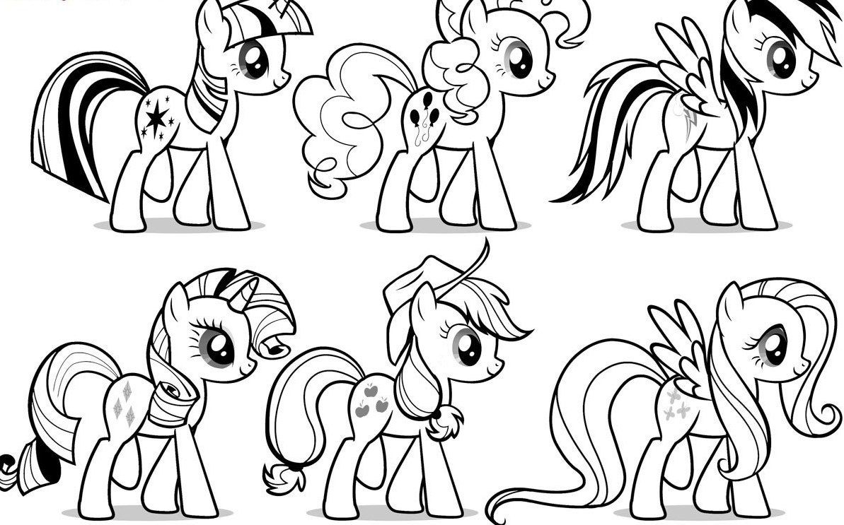 Beautiful Horse Coloring Page Groups