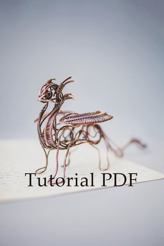 Tutorial DIY project - PDF Tutorial wire wrapped sculpture Dragon ...