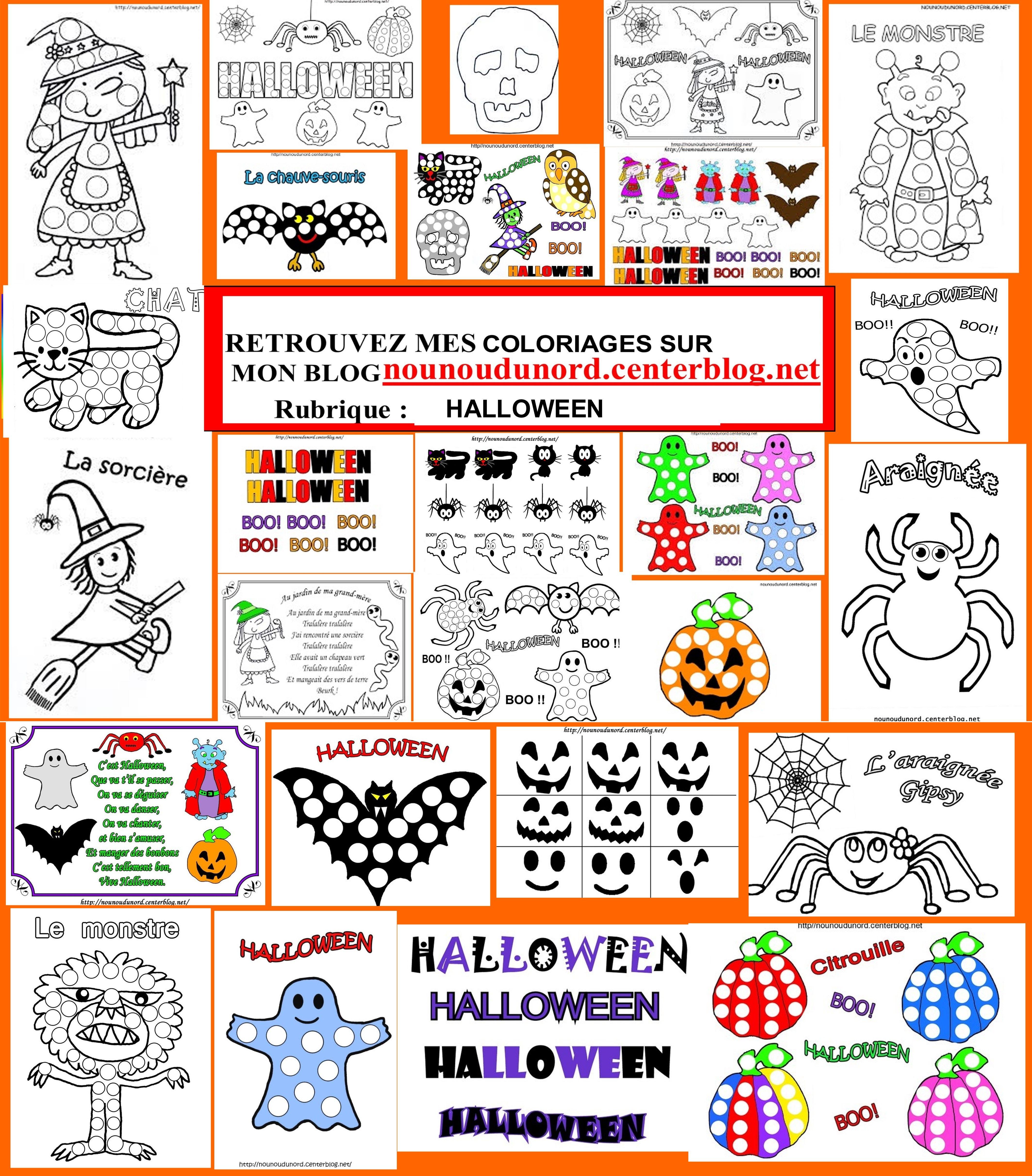 Unique Dessin Coloriage Halloween Imprimer