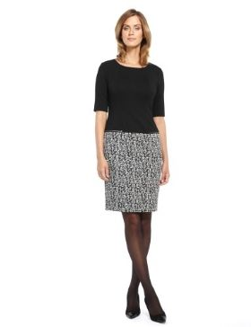 M&S Collection Twin Pockets Jacquard Dress-Marks & Spencer
