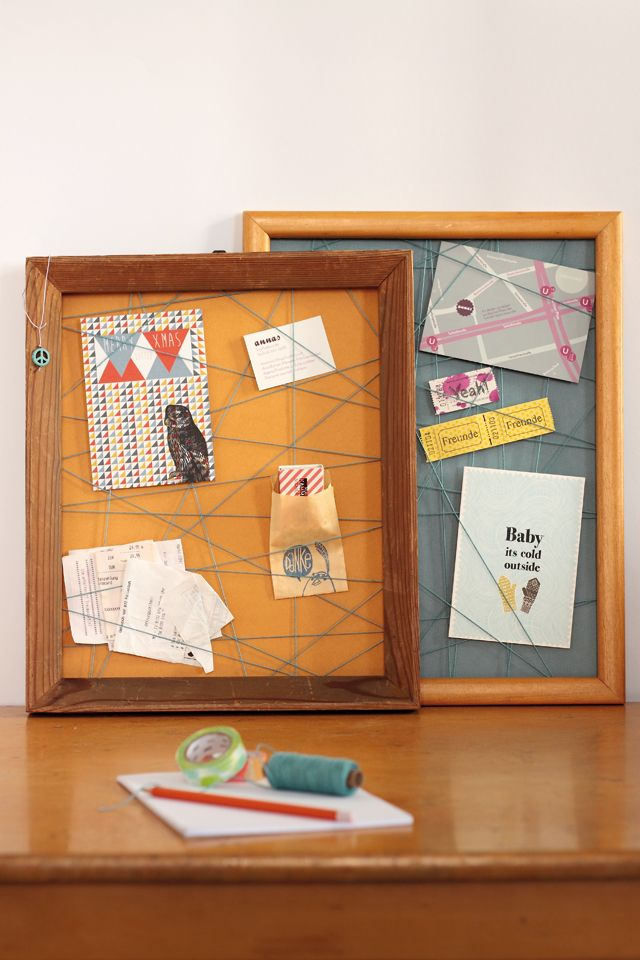 Pinnwand aus Bilderrahmen / Pinboards made of picture frames / Upcycling