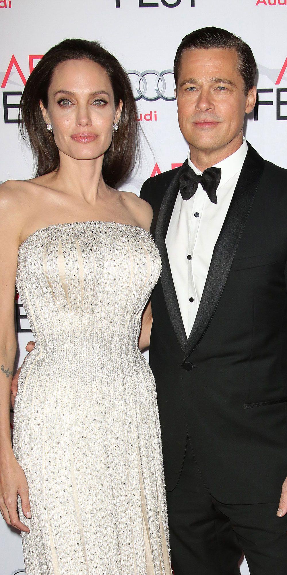 Angelina Jolie Had A Tattoo Binding Her To Brad Pitt Months Before Split Strapless Dress Formal Brad Pitt Angelina Jolie