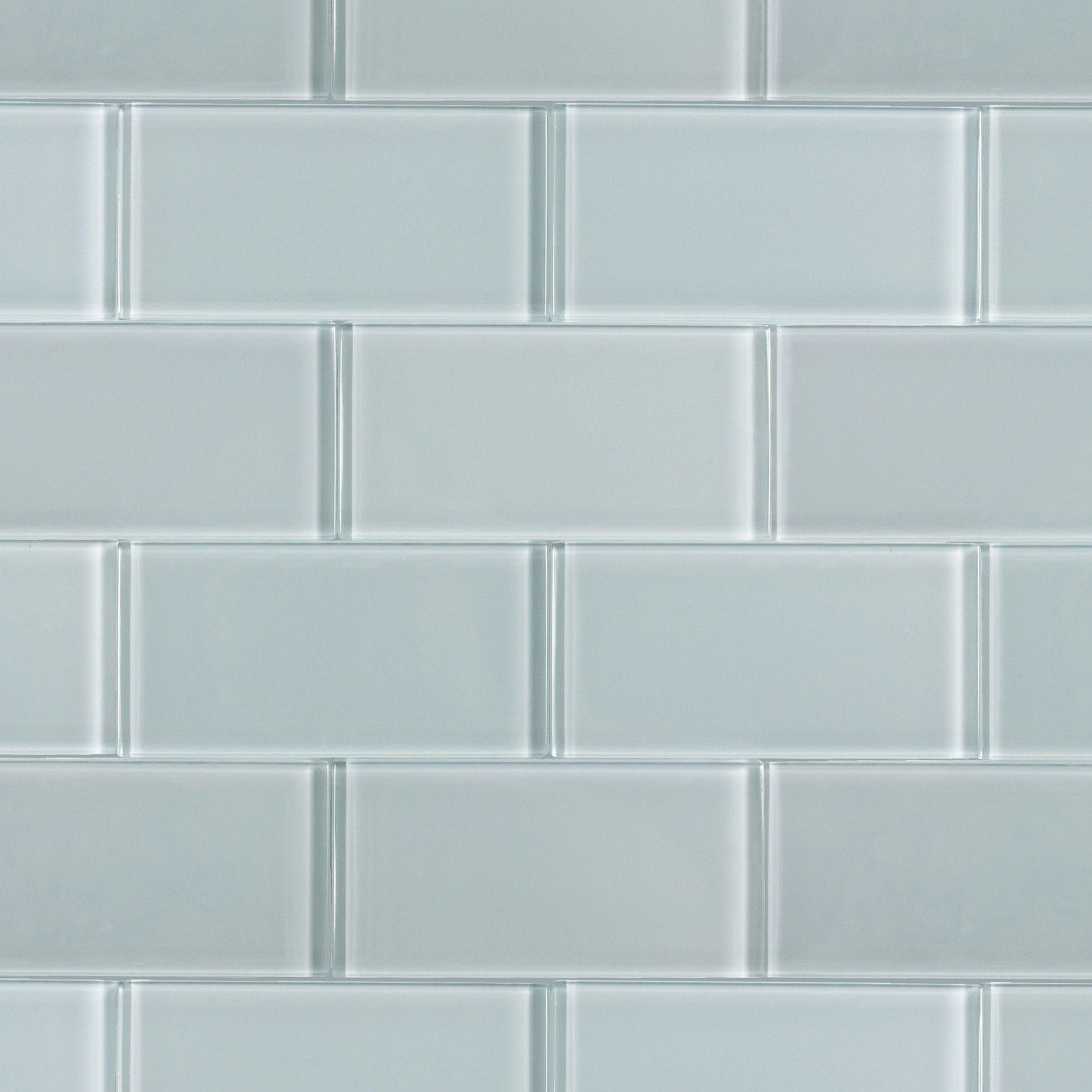 loft natural white 3x6 polished glass