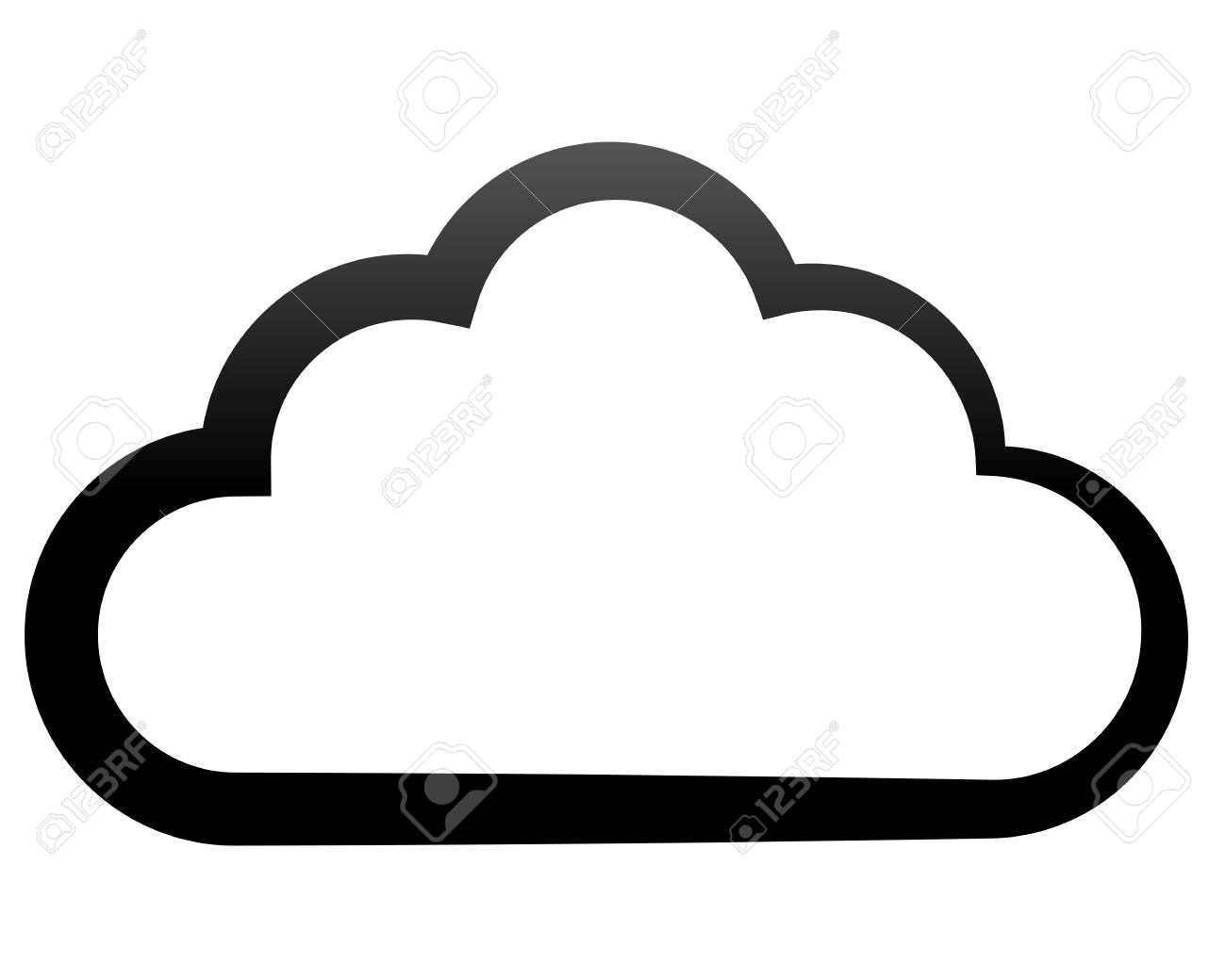 cloud symbol icon - black gradient outline, isolated - vector illustration  #sponsored , #ad, #icon, #black, #cloud, #sy… | symbols, vector  illustration, logo design  pinterest