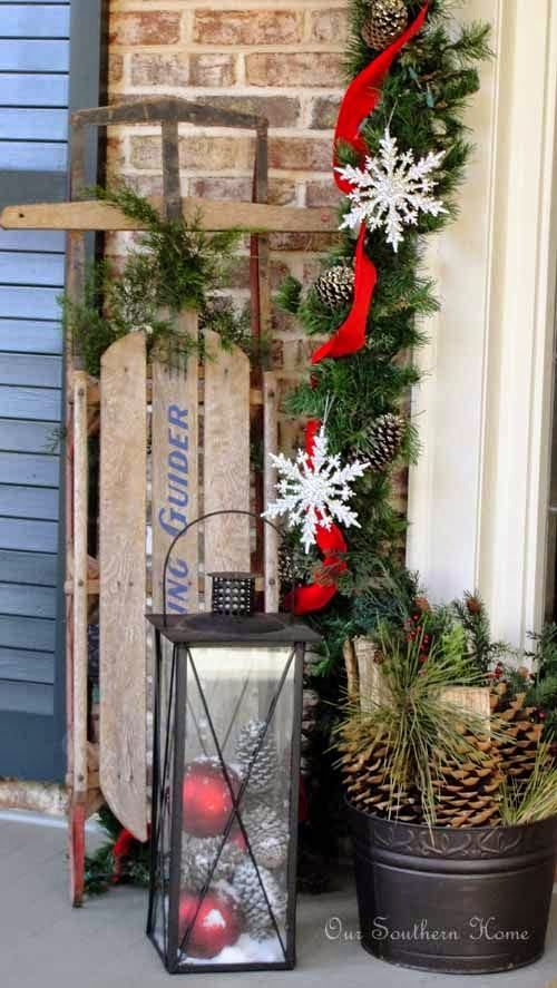 christmas decorations for outside bench - Google Search Christmas - christmas decorations for outside
