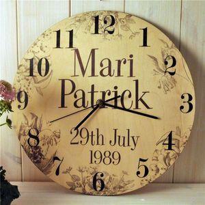 Personalised Wedding Clock Clocks