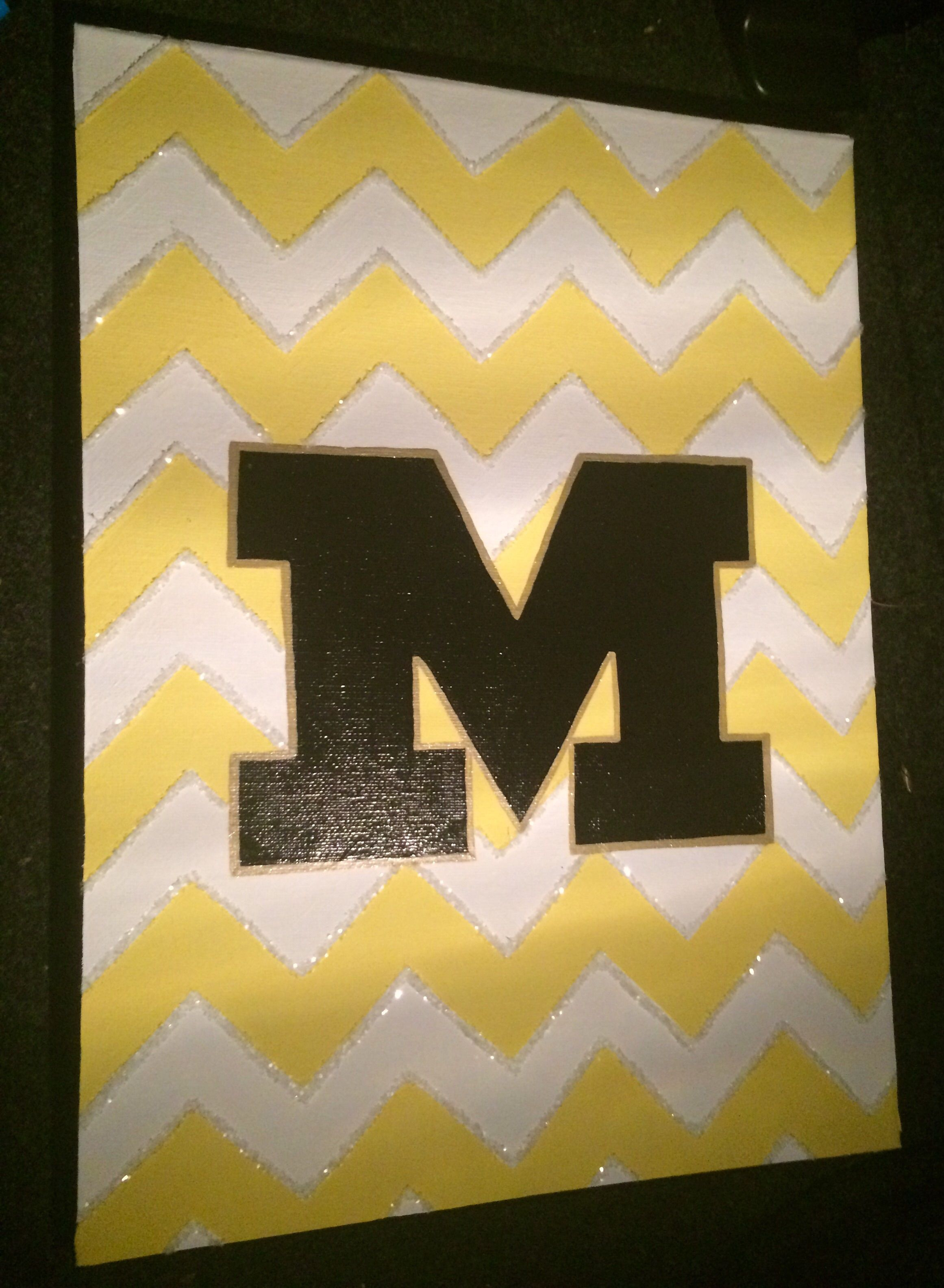 Mizzou glittery chevron canvas painting | College DIY | Pinterest ...