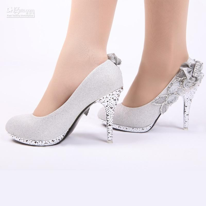 Wholesale 2012 New Bride Wedding Shoes Noble Rhinestone Shoes Multicolor  Bride Preferred Silver 12 Silver Wedd, $20.19/Dozen | DHgate