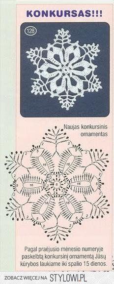 Pin By Teresa Jezierska On Haus Garten Und Co Crochet Snowflake Pattern Crochet Patterns Crochet Xmas