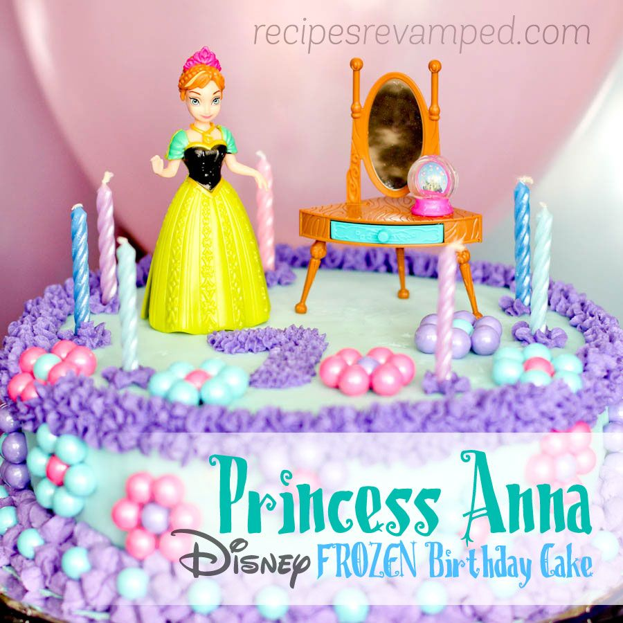 Birthday Cake Disney Frozen Princess Anna I knew this cake was a