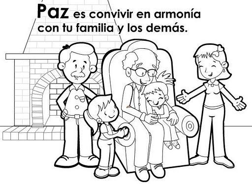 Paz Y Armonia Educar En Valores Dibujos De Los Valores Dibujos Para Preescolar