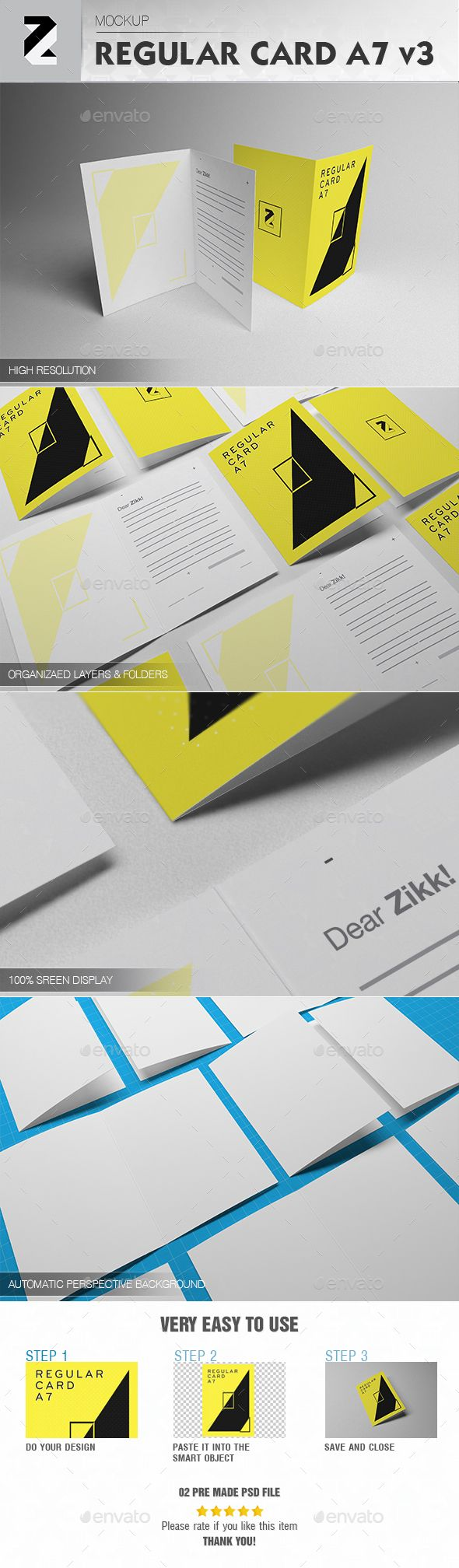 Regular Card A7 Mockup v3 | Mockup, Brochures and Font logo