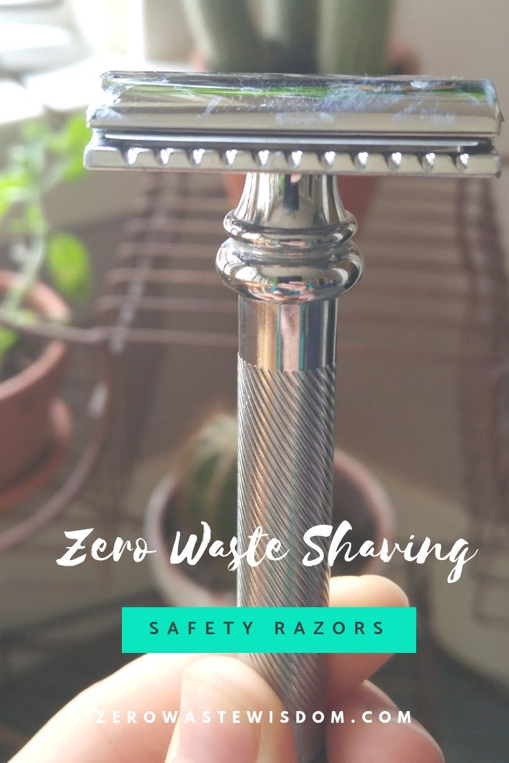 Disposable razors are expensive and a lot of plastic